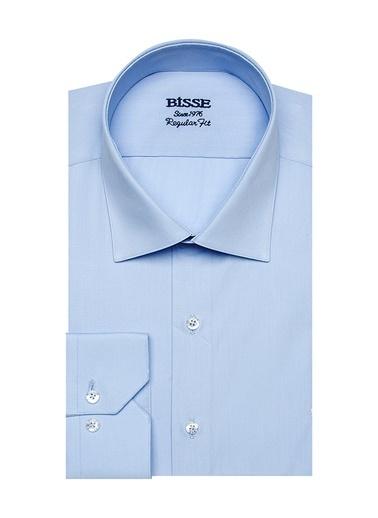 Bisse GM19Y91033 Regular Fit Düz Klasik Gömlek Mavi